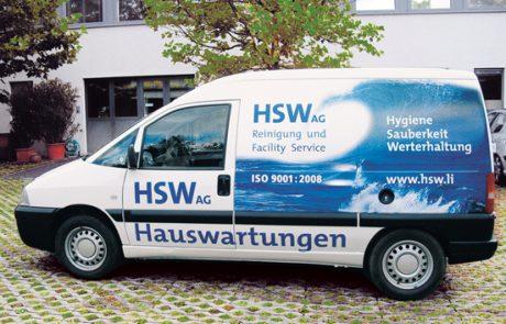 Reinold Ospelt AG   HSW Autobeschriftung