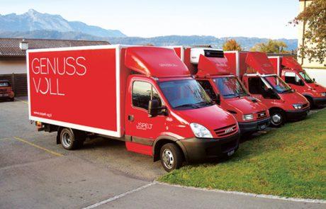 Reinold Ospelt AG   Ospeltflotte - Busbeschriftung
