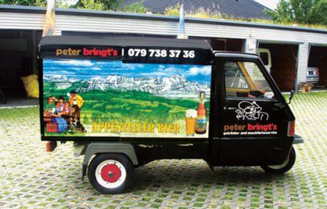 Reinold Ospelt AG   Peter bringts - Busbeschriftung