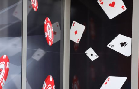 Casino Gebäudebeschriftung Wand