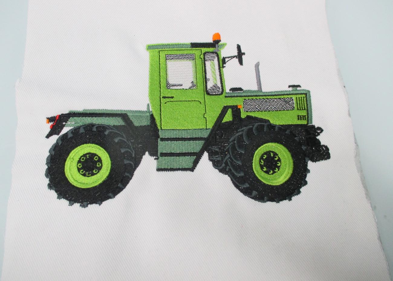 Stickerei Traktor